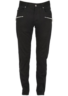 Balmain 16.3cm Tapered Cotton Moleskine Pants