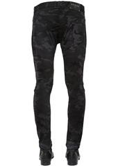 Balmain 16cm Slim Camo Destroyed Denim Jeans