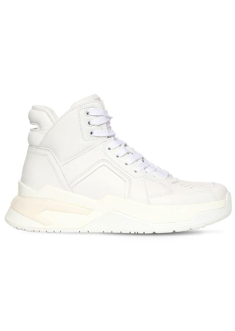 Balmain 30mm B Ball Leather Sneakers