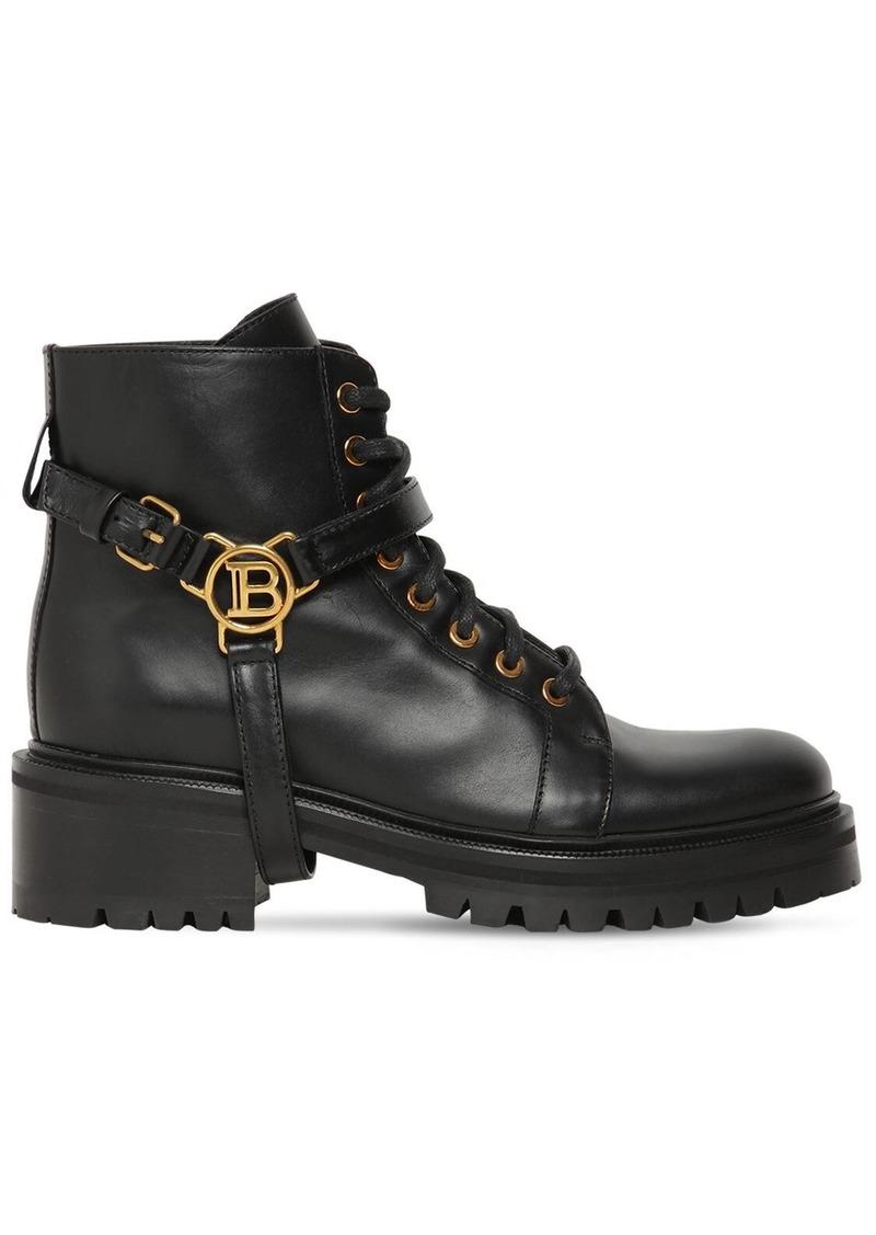 Balmain 50mm Priska Ranger Ankle Boots