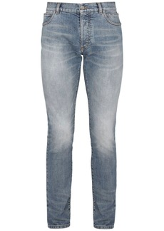 Balmain 6 Pockets Slim Cotton Denim Jeans