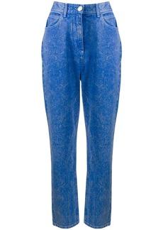 Balmain acid wash boyfriend jeans