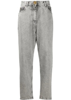 Balmain acid wash high-waist jeans