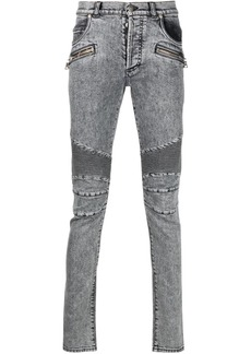 Balmain acid-wash skinny jeans