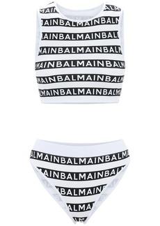 All Over Balmain Logo Bikini