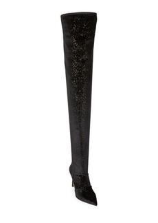 Balmain Amazon Glitter Thigh-High Boots