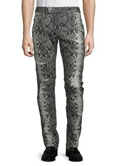 Balmain Animal-Print Jeans