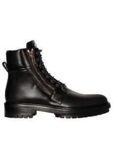 Balmain Army Combat Zipped Leather Boots