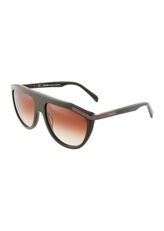 Balmain Aviator Acetate Sunglasses  Khaki
