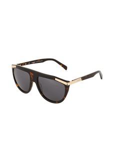 Balmain Aviator Acetate Tortoiseshell Sunglasses