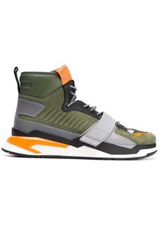 Balmain B-Ball panelled sneakers