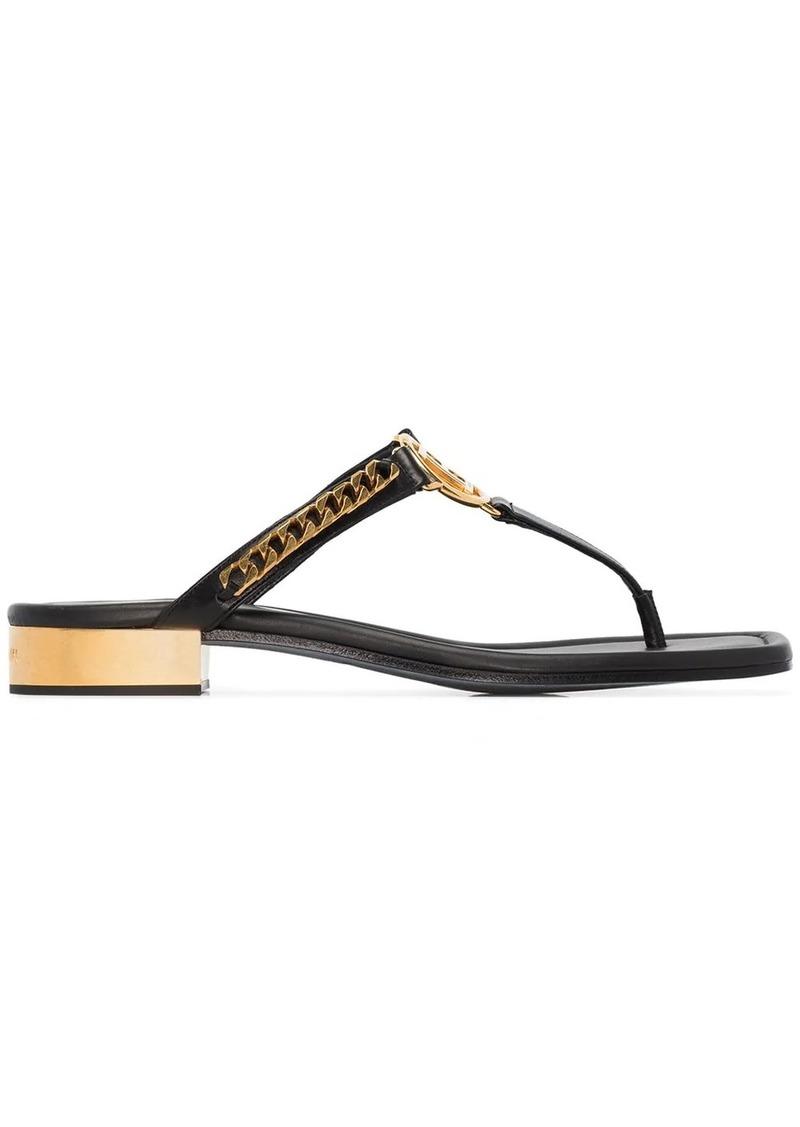 Balmain B emblem chain sandals