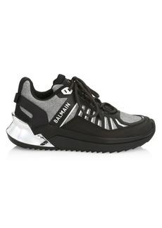 Balmain B-Trail Glitter Mesh Sneakers
