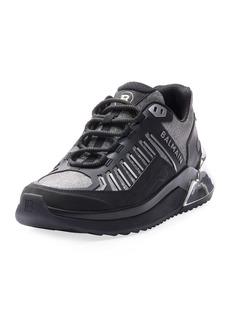 Balmain B Trail Metallic Sneakers