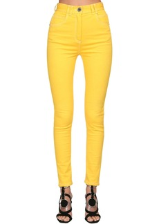 Balmain Back Logo Skinny Cotton Denim Jeans