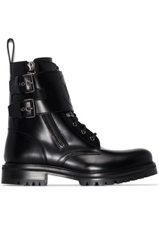 Balmain double strap ranger boots