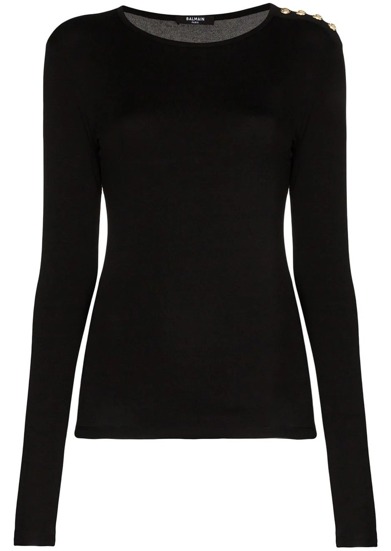 Balmain 4 button long-sleeved top