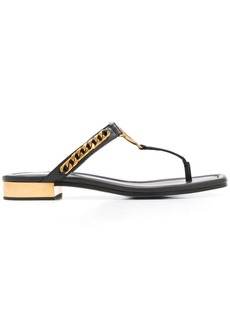 Balmain T-bar chain leather sandals