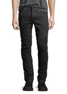 Balmain 6-Pocket Multi-Rivet Skinny Jeans