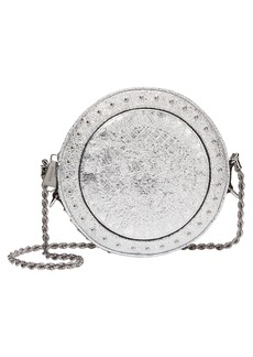 Balmain Disco Studded Circle Crossbody Bag