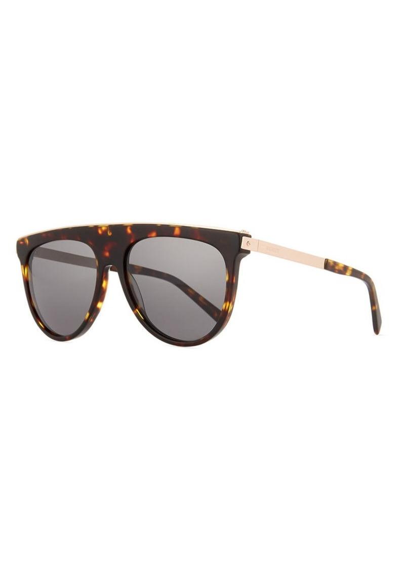 af363cbcb5 Balmain Balmain Acetate   Metal Flattop Aviator Sunglasses