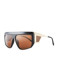 Balmain Acetate Shield Sunglasses