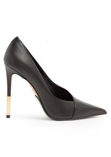 Balmain Agnes point-toe leather pumps