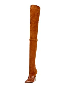 Balmain Amazone Thigh-High Suede Boot