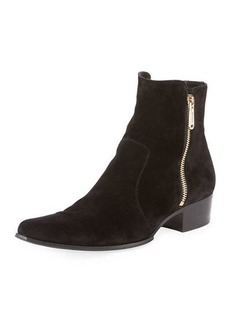 Balmain Anthos Suede Ankle Boot