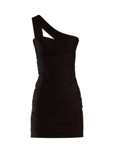 Balmain Asymmetric bandage mini dress