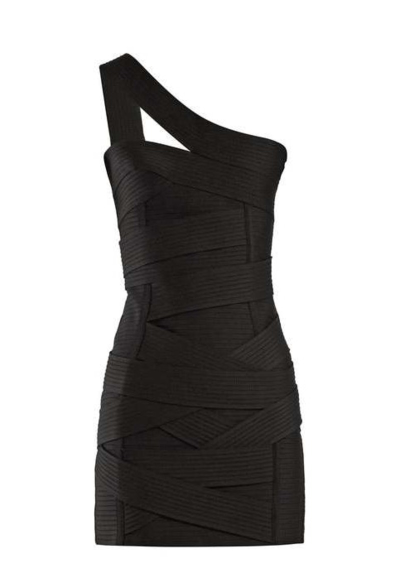 Balmain Asymmetric bandage mini dress