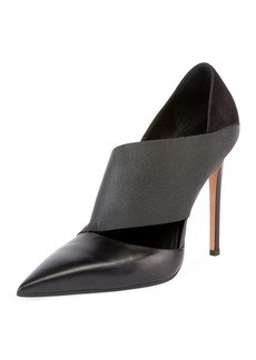 Balmain Audrey Asymmetric Leather 100mm Pump