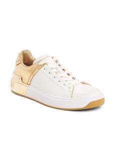 Balmain B-Court Metallic Accent Sneaker (Women)