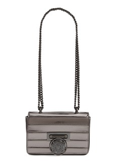 Balmain Baby Box Mariniere Mirrored Calfskin Leather Shoulder Bag