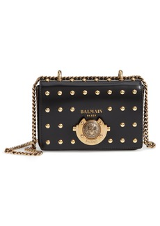 Balmain Baby Box Studded Leather Shoulder Bag