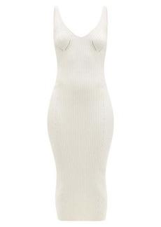 Balmain Back-zip rib-knitted midi dress