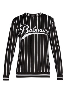 Balmain Baseball knitted sweatshirt