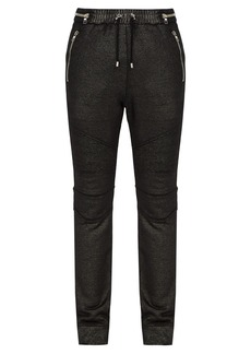 Balmain Biker-style track pants