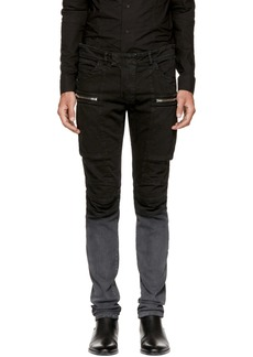 Balmain Black Denim Cargo Pants