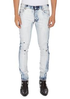 Balmain Bleached 6-Pocket Slim Jeans