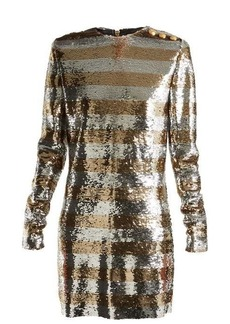 Balmain Boat-neck mini dress