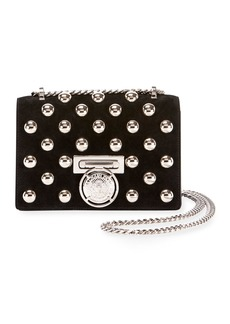 Balmain Box 20 Flap Pearl-Studded Shoulder Bag