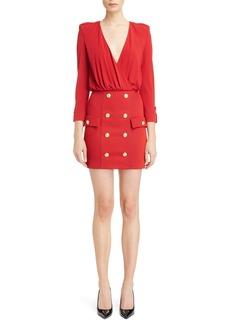 Balmain Button Detail Dress