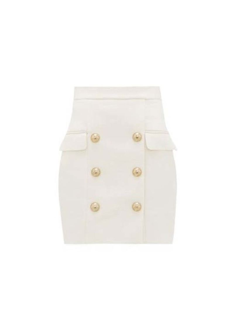 Balmain Buttoned tailored mini skirt