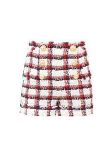 Balmain Buttoned wool-blend tweed shorts