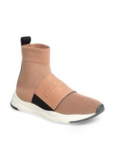 Balmain Cameron Logo Strap Sock Sneaker (Women)
