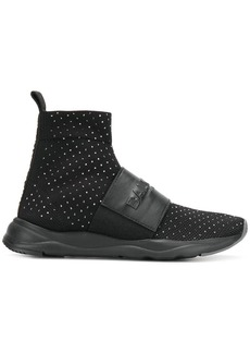 Balmain Cameron stretch sock sneakers - Black