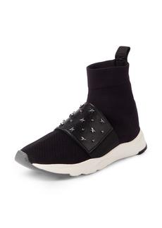 Balmain Cameron Studded Sock Sneaker (Women)