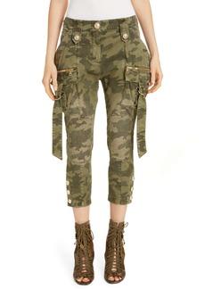 Balmain Camouflage Crop Cargo Jeans