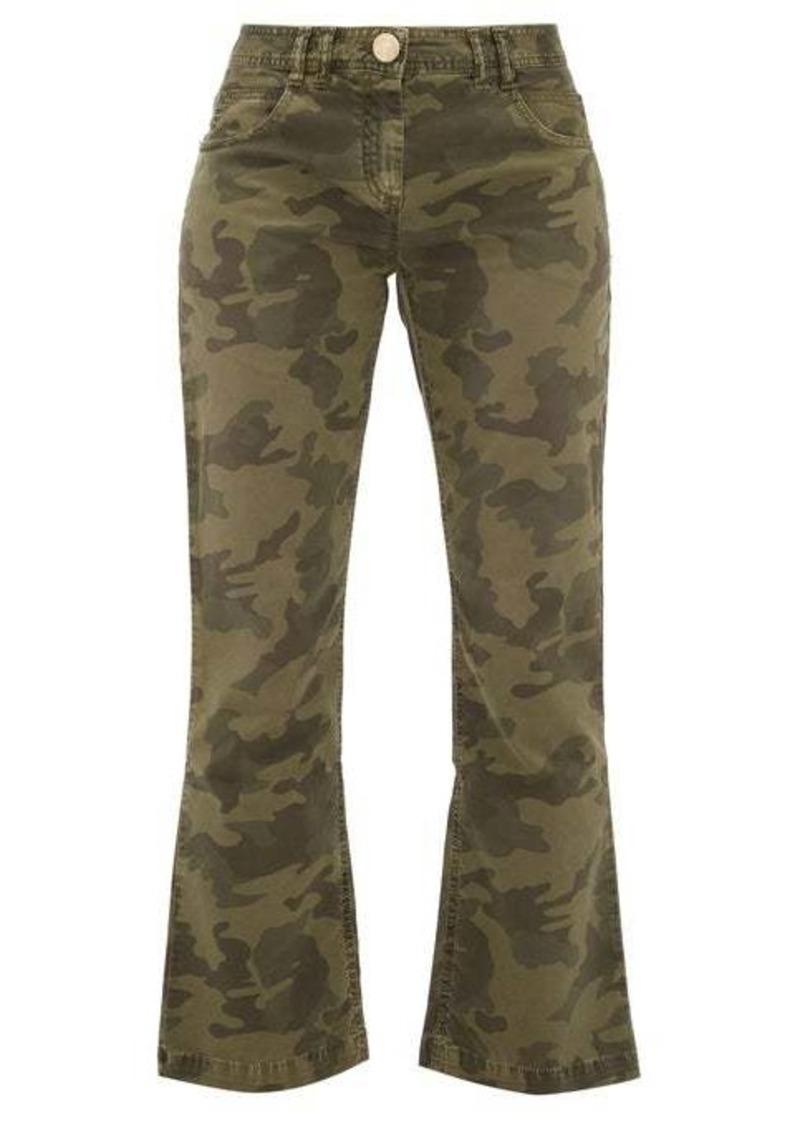 Balmain Camouflage-print kick-flare jeans